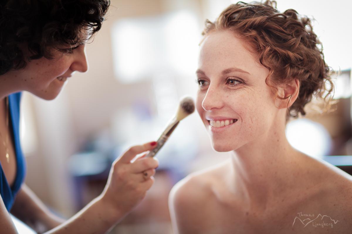 Make up by bridesmaid