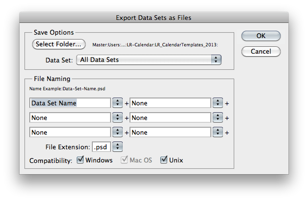 Export Dataset as file