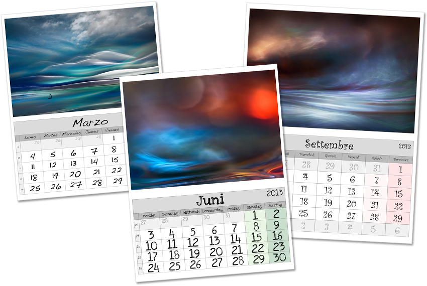 Lightroom Calendar example. Photo: Ursula I Abresch