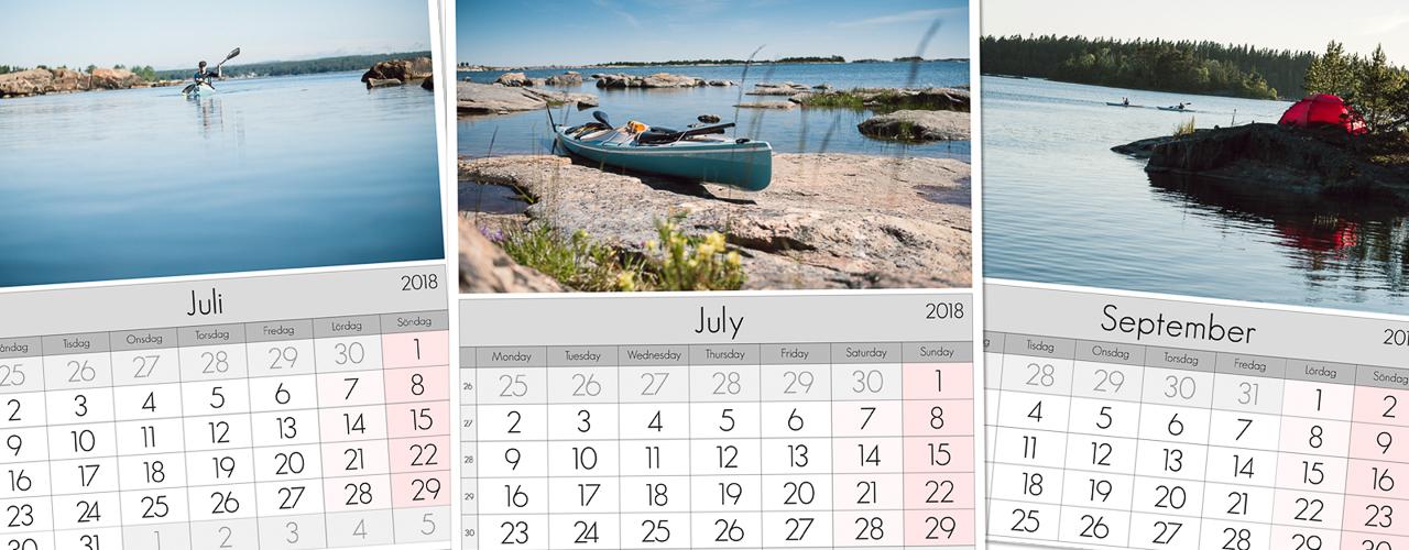 Lightroom Calendar Templates - Thomas Ljungberg